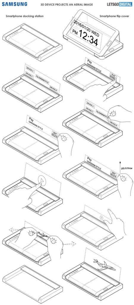 حق اختراع سامسونگ برای یک ابزار جانبی با نمایشگر هولوگرافیک